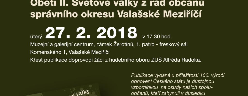 Beseda i veřejná prezentace knihy v Muzejním a galerijním centru