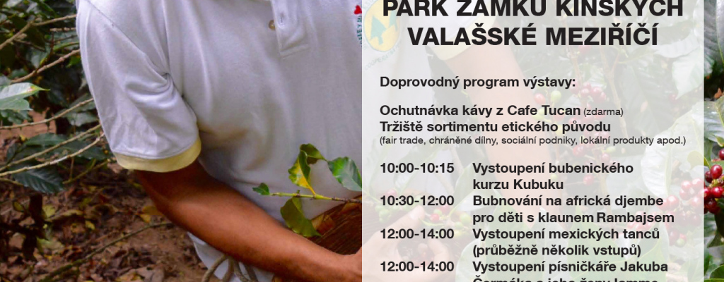 Spojte procházku do parku Kinských s výstavou o kávě