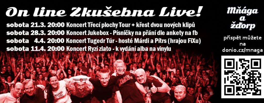 Mňága a Žďorp – On line zkušebna Live!
