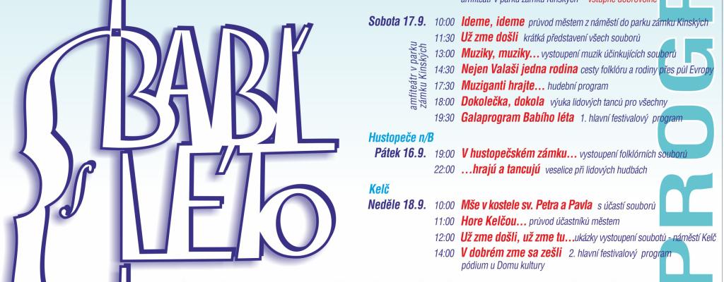 Mezinárodní folklórní festival Babí léto 2016 se blíží