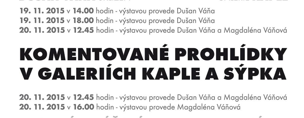 Dva dny nabité komentovanými prohlídkami s autory sochařských výstav v galeriích Kaple a Sýpka ve Valašském Meziříčí.