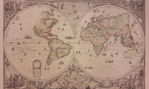 Atlas velkého kurfiřta na zámku Žerotínů