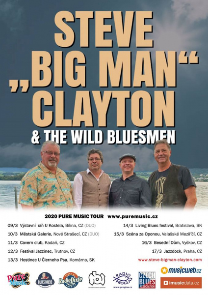 "ZRUŠENO – Steve"" Big Man"" Clayton & the Wild Bluesmen  (Bobrovniczký)"