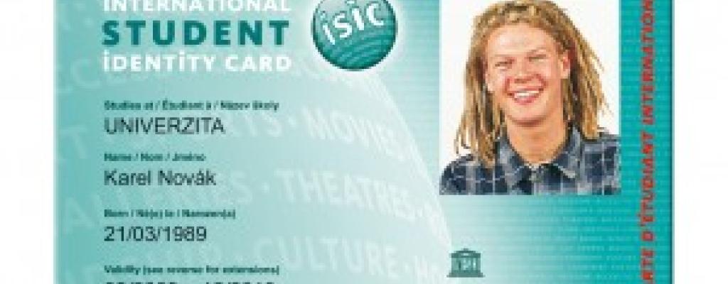 KZ nabízí řadu slev, nově držitelům karet ISIC