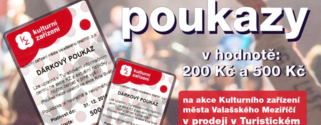 Kulturní zařízení ve Valašském Meziříčí nabízí dárkové poukazy
